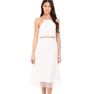 PRABAL GURUNG Fils Coupe Illusion White Lace Dress